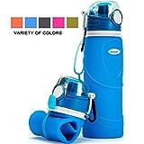 Kemier Kollabierbare Silikon-Wasserflaschen-750ML, Medizinische Qualität, BPA-Frei, FDA-Zugelassen, Aufrollen, 26oz, auslaufsicher, Faltbar Sport & Outdoor-Wasserflaschen