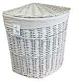 mittlere Größe weiß gemalt Eck Wäschekorb Bettwäsche Wäsche mit abnehmbare Futter Gebogene