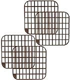 COM-FOUR 4 Spülbeckenmatten aus Kunststoff, eckige Spülmatte in braun, 30 x 30 cm (04 Stück - braun)