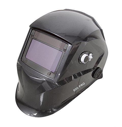 Proteco-Werkzeug PRO 800 Automatik Schweißhelm XXL Sichtfeld inkl 10 Gläser Solar Schweisshelm Schweissmaske Schweißschild Automatikhelm