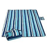 Picknickdecke, Sable Campingdecke Outdoor–Unterlage 200 x 200 cm, Wasserdichte Stranddecke mit extrabreitem Griff für Reisen, Wandern, Camping