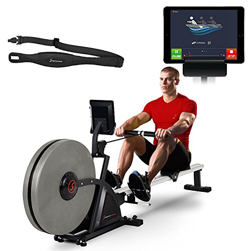 Sportstech 2in1 Profi Rudergerät mit 16 fachem Luft- und Magnetbremssystem, Smartphone App, 4 Puls- und 12 Trainings-Programme, RSX600, Wettkampfmodus, klappbar, inklusive hochwertigem Pulsgurt
