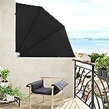 Jago Balkonmarkise Seitenmarkise Balkonfächer Sichtschutz in 3 verschiedenen Größen einzeln oder als 2er-Set mit großer Farbauswahl
