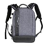 K&F Concept Kamera Rucksack,Kamerarucksack Canon,Kamerarucksack Spiegelreflex,Fotorucksack Groß,Camera Backpack,Fotorucksack für Canon Nikon Sony(eine DSLR, bis zu 6 Objektive)