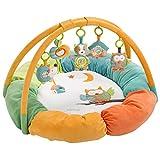 Fehn 071184 3-D-Activity-Nest Eule/Besonders weicher Spielbogen mit 5 abnehmbaren Spielzeugen für Babys Spiel & Spaß von Geburt an/Maße: Ø85cm