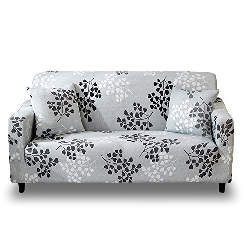 HOTNIU 1 Stück Stretch Sofa Couch Bezüge - Spandex Printed Loveseat Couch Schonbezug - Sessel Sesselbezug/Protector One Free Kissenbezug (2 Sitzer 135-170cm, Gemustert #15)