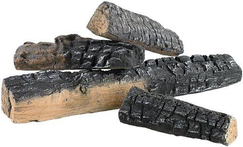 Carlo Milano Deko Holzscheite: Keramik-Dekoration Holzscheit für Bioethanol-Öfen 4 Stk. (Feuer Dekosteine)