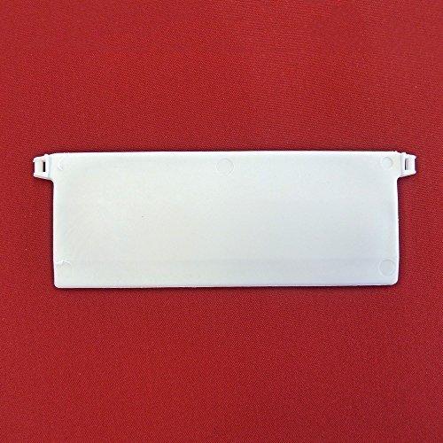 Easy-Shadow - 10 Stück Beschwerungsplatten inkl. Verbindungskette Gewicht für Lamellenvorhang Stofflamellen Breite 127 mm - Vertikal Lamellen Vorhang / Vertikal Jalousie / Vertikaljalousie / Vertikal-Anlage / Vertikalanlage / Vorhang-Lamellen 127mm - weiß