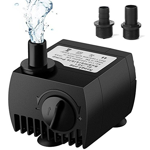SeeKool Mini Wasserpumpe 300L/H 3W Submersible Pumpe Tauchpumpe Unterwasser für Teiche,Fisch Behälter, Aquarium, Garten, Brunnen, Gartenteich Springbrunnen, Aquariumpumpe