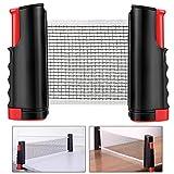 Weego Tischtennisnetze Tischtennis Netze, Justierbarer Einziehbares Netz Ping Pong Ersatznetz, Beweglicher Reisehalter - Einstellbare Länge 170(max) x 14,5cm (Noir)