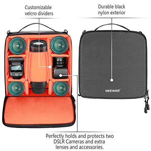 Neewer Wasserdicht Stoßfest Flexible Partition Kamera Gepolsterte Tasche SLR DSLR einfügen Schutz Top Griff Tasche für spiegellose Kameras und Objektive, Blitzlicht, Radio-Auslöser, Akku und Ladegerät, Kabel und andere Kamera-Zubehör