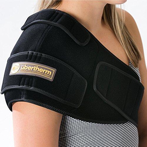 übertherm Schulter Kaltkompresse: Intensive Kühlung ohne beißende Kälte dank neuer Eis-Kissen Technik. Für Kältetherapie und Sport-Rechte Schulter