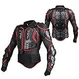 SunTime Motorrad Schutz Jacke Pro Motocross ATV Protektorenjacke mit Rückenprotektor Scooter MTB Enduro für Damen und Herren Rot L