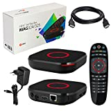 MAG 324 original Infomir & HB-DIGITAL IPTV Set TOP Box Multimedia Player Internet TV IP Receiver (HEVC H.256 Support) + HB Digital HDMI Kabel