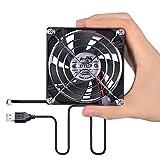 ELUTENG USB Ventilator Mini USB Lüfter 80mm Gehäuselüfter mit 2 Geschwindigkeitsstufe PC Fan mit Gitter für Laptop Computer PS4 Xbox Tischventilator