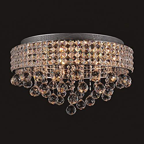 SPARKSOR 9-Lights G9 Moderne Elegante Runde Deckenleuchte Anhänger Leuchte Beleuchtung Kristall Kronleuchter