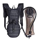 Unigear Trinkrucksack mit 2.5L Trinkblase, taktischer Hydration Rucksack, Fahrradrucksack, Hydrationspack, für Klettern Trekking Radfahren Bergsteigen Outdoor Sports (Schwarz+2.5L Trinkblase)