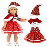 Vovotrade Weihnachten Kleidung Kleid Hut für 18 Zoll American Boy Puppe Zubehör Mädchen Spielzeug (Rot)