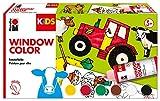 Marabu 0306000000010 Kids Window Color Bauernhof 6 x 80 ml, inklusive Malvorlage und Malfolie, bunt