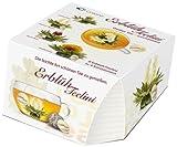 Creano Teeblumen Variation im exklusiven Tassenformat 'ErblühTeelini'   8 Teeblüten in 4 verschiedenen Sorten (Weißer Tee)