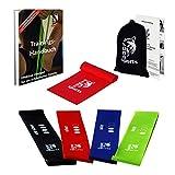 Osuno Sports, 5 Widerstandsbänder mit 1 Gymnastikband und gratis ebook, Fitnessbänder Set mit Anleitung auf Deutsch, 5 Sportbänder, Powerband Set