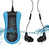 AGPTEK Schwimm-MP3-Player Unterwasser-Wasserdicht IPX8, Clip MP3, Musik-Player zum Schwimmen, Surfen, Laufen und Sportaktivitäten, kommt mit Wasserdichten Kopfhörern