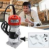 Oberfräse Geentah 6.35mm(1/4') Multifräse Electric Hand Trimmer Kantenfräse Fräse Holzfräse 580W 30000R/M für CNC