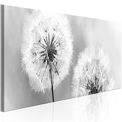 murando - Bilder Pusteblume 135x45 cm - Leinwandbilder - Fertig Aufgespannt - Vlies Leinwand - 1 Teilig - Wandbilder XXL - Kunstdrucke - Wandbild - Blumen Natur grau Pusteblumen b-B-0223-b-b