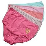 5er Set Damen Slips Damenslips Taillenslip in Große Größen Unterhosen aus Baumwolle, Farbe: Farbmix 1 / Bunt, Größe: 46