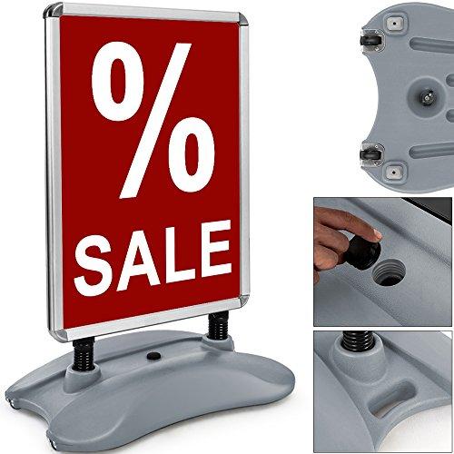 Deuba Kundenstopper A1  doppelseitig  Alu Klemmrahmen  Handgriff - Werbetafel Werbeaufsteller Plakatständer Gehwegaufsteller Tafel