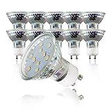 B.K.Licht LED Leuchtmittel I GU10 Lampenfassung I 10 x 3 W Glühbirnen I warm-weiß leuchtende Glühlampen I 10er Set I ersetzen 30 W Halogen Lampen I Reflektorform I 230 V[Energieklasse A+]