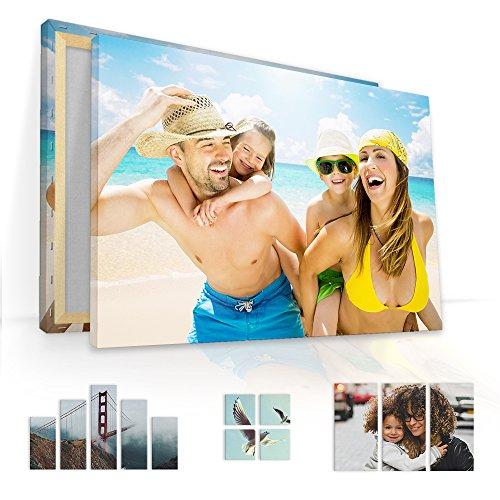 malango Foto auf Leinwand JETZT SELBST GESTALTEN - handgefertigt auf 2 cm Keilrahmen 1-Teiler Klassisch 60 x 40 cm mit eigenem Foto