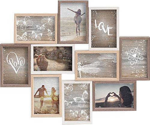Gallery Solutions Collage Mixed Colours 10 Fotos à 10x15 cm, Außenformat: 56x45x4 cm