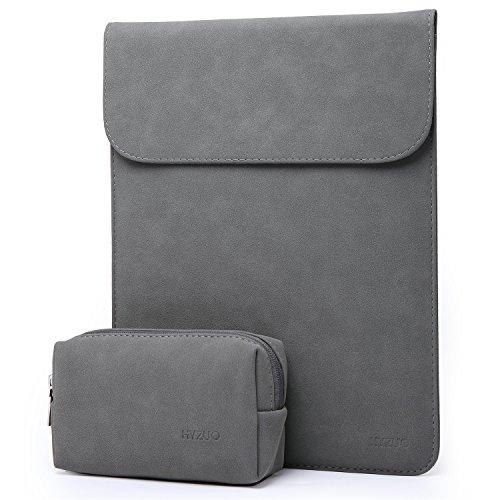 HYZUO 15 Zoll Laptop Hülle Tasche Wasserdichte Laptophülle Laptoptasche Notebooktasche mit Kleine Tragetasche, Dunkelgrau