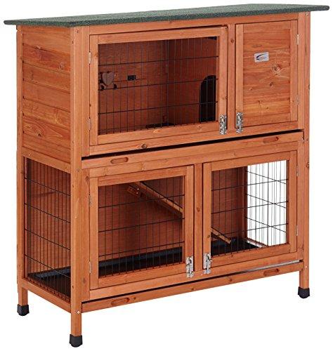 BUNNY BUSINESS Stall für Kaninchen/Meerschweinchen, 2Ebenen, mit Auslauf