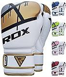 RDX Training Boxhandschuhe Kunstleder Sparring Kickbox Handschuhe Muay thai Sandsackhandschuhe, Color: Gold, GR: 8 oz