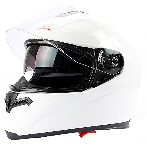 Mach1 Integralhelm Helm Motorradhel mit Integrierter Sonnenblende ECE R 22.05 Größe XS bis XXL