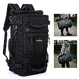 Overmont 40I Daypacks Multifunktional Herren Rucksack Reiserucksack 17' Laptoptasche Schultasche für Outdoor Camping Wandern Ausflug Schwarz