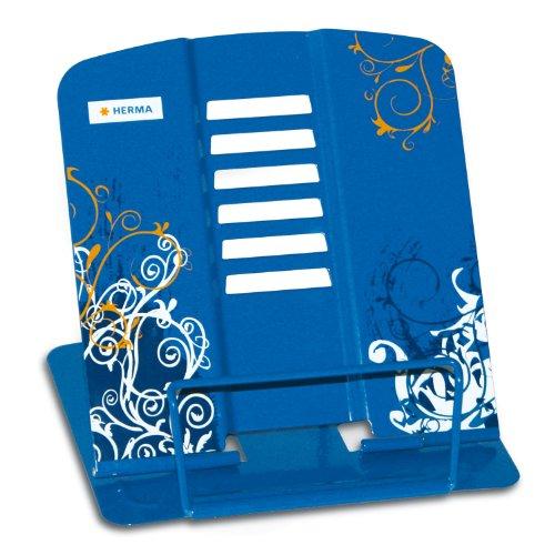 Herma 19037 Leseständer (Design Spirit, bedruckt, 19 x 40cm) blau
