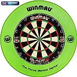 Winmau Dartboard Blade 5 Tunierdartscheibe mit Winmau Surround (Grün)