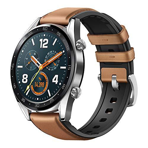 HUAWEI Watch GT Smartwatch, 1,39' AMOLED Touchscreen GPS Fitness Tracker Herzfrequenzmessung,5 ATM wasserdicht - braun