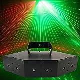 Bühnenbeleuchtung, Stroboskop 6 Farben Rot Grün Disco Blitzbeleuchtung RGB Bühnenprojektionslampe Sprachsteuerung Für Party Bars -601
