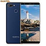 Smartphone ohne Vertrag,OUKITEL C11 Pro Android 8.1 Dual SIM 4G LTE Handy,5.5''(18:9) HD + Bildschirm 3400mAh Akku,3GB RAM+16GB ROM(Erweitern Sie 64G) 8+2MP Hauptkamera,Fingerabdruck+Gesicht ID-Blue