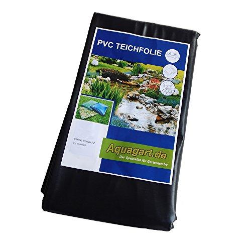 Teichfolie Gartenteichfolie 1,0mm schwarz Folie für den Gartenteich Teichbau verschiedene Abmaße … (5m lang, schwarz 4m breit )