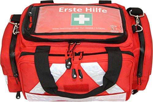 Erste Hilfe Tasche - Notfalltasche PKW, Freizeit und Veranstaltung aus Nylon mit Waterstop Reißverschluss