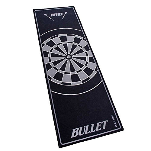 Bullet Hochwertige Turnier Dartmatte 237x80cm in Grau
