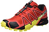 Salomon Herren Speedcross 4 Traillaufschuhe, Radiant Red/Black/Corona Yellow, 45.3 EU