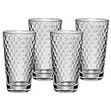 WMF Tumbler Gläser-Set 4-teilig Tumbler Aromawaben Wabenmuster Cocktail Longdrink Glas hitzebeständig spülmaschinengeeignet