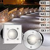 Bodeneinbaustrahler Eckig 1er Set   Außen (10x10x12cm), LED geeignet / GU10 / IP65-67, aus Edelstahl   Gestalten- und Setauswahl   Bodenstrahler, Gartenstrahler, Bodenleuchte
