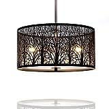 Hängelampe   Hängeleuchte Natura   Deckenlampe 40cm   Natur   Wald   Lounge   Wohnzimmer   Esszimmer   Schlafzimmer   dimmbar   LED geeignet  3x E27 Fassung